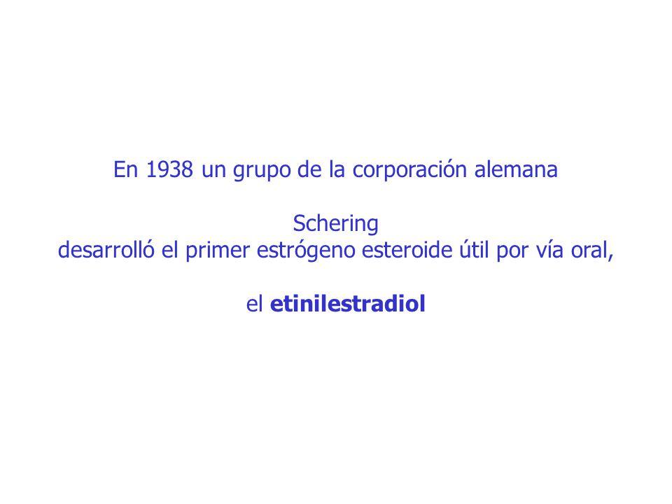 En 1938 un grupo de la corporación alemana Schering