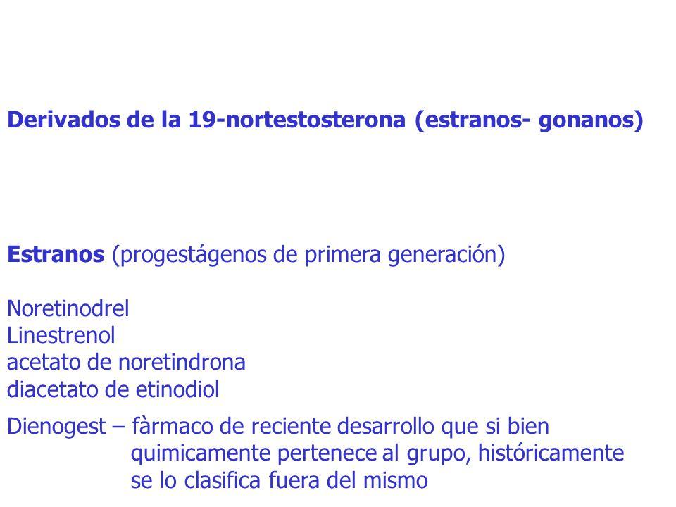 Derivados de la 19-nortestosterona (estranos- gonanos)