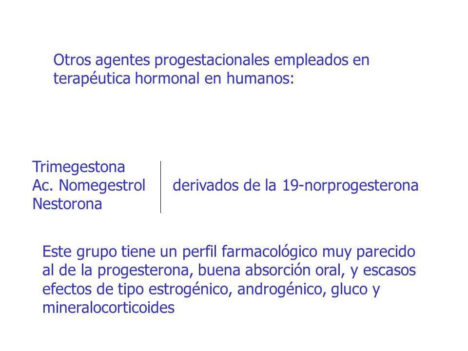 Otros agentes progestacionales empleados en