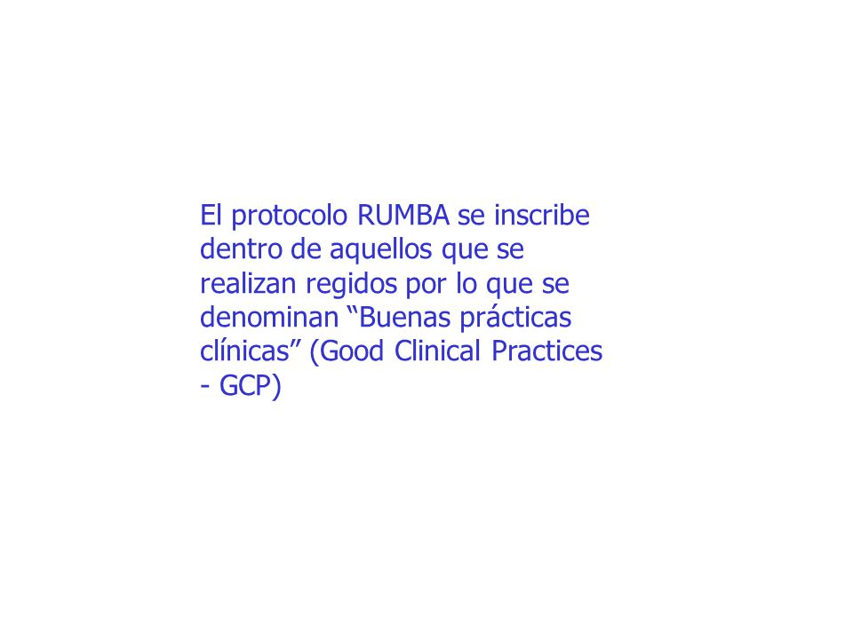 El protocolo RUMBA se inscribe