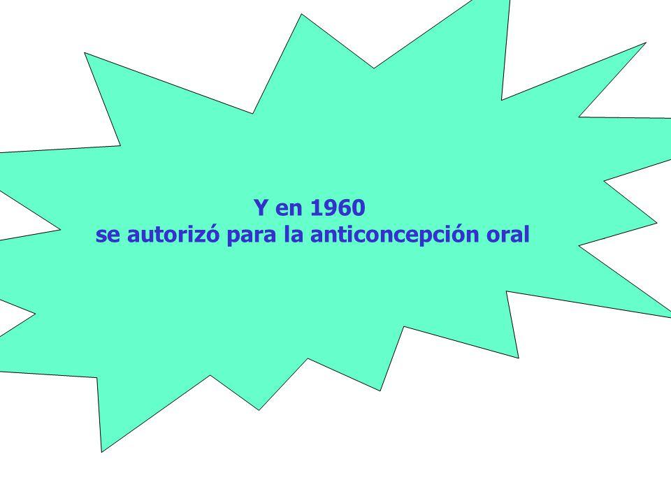 se autorizó para la anticoncepción oral