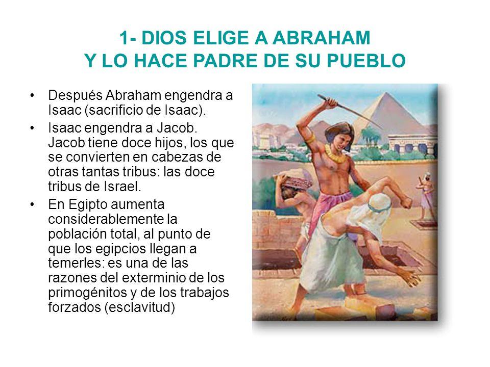 1- DIOS ELIGE A ABRAHAM Y LO HACE PADRE DE SU PUEBLO