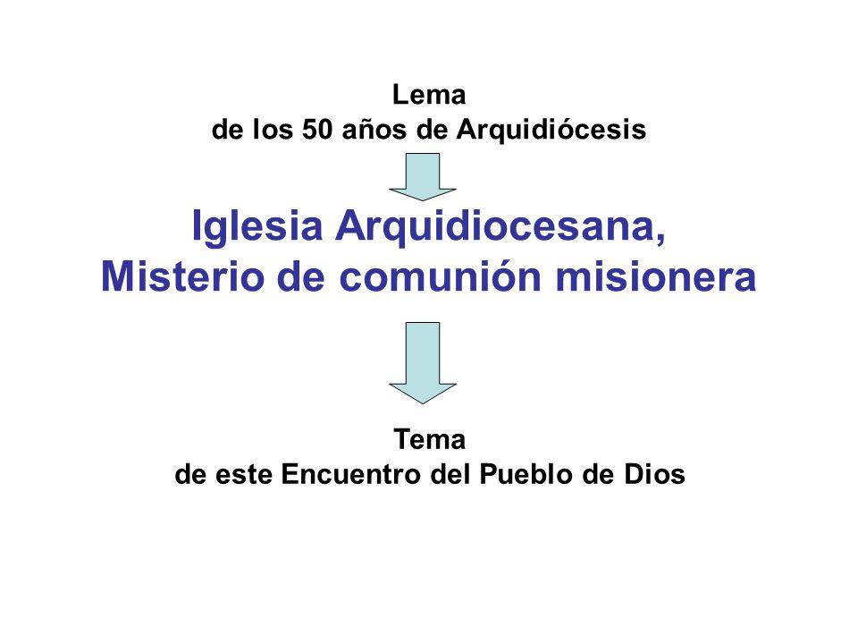 de los 50 años de Arquidiócesis
