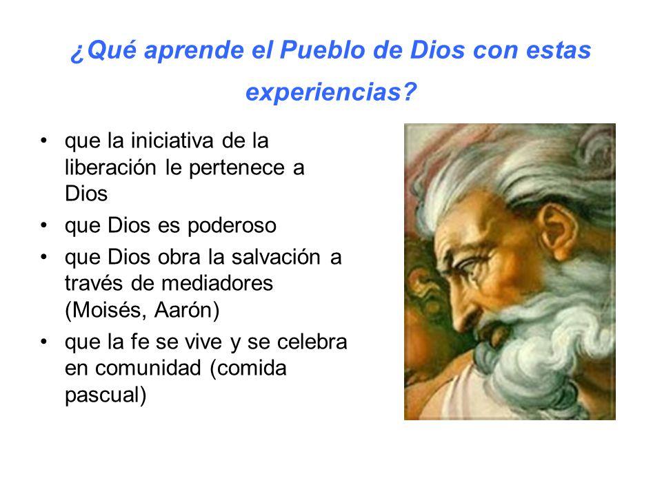 ¿Qué aprende el Pueblo de Dios con estas experiencias