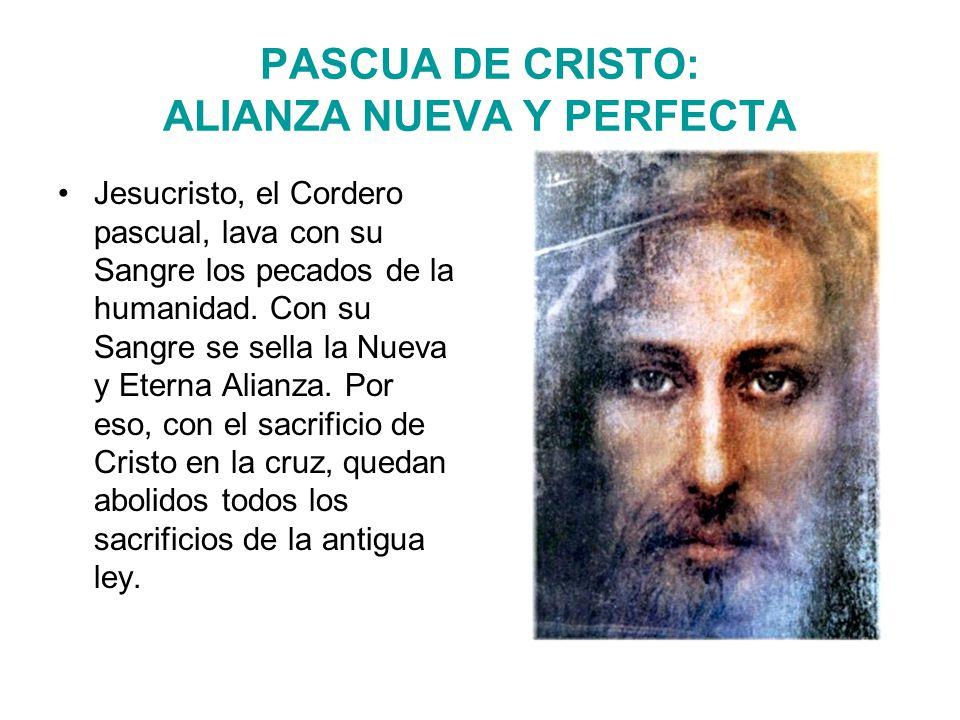 PASCUA DE CRISTO: ALIANZA NUEVA Y PERFECTA