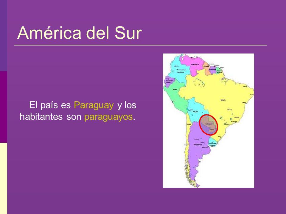El país es Paraguay y los habitantes son paraguayos.