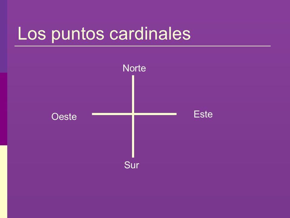 Los puntos cardinales Norte Este Oeste Sur