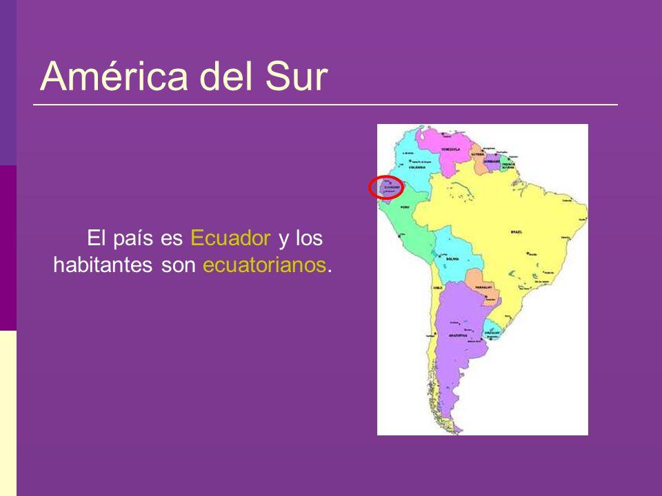 El país es Ecuador y los habitantes son ecuatorianos.