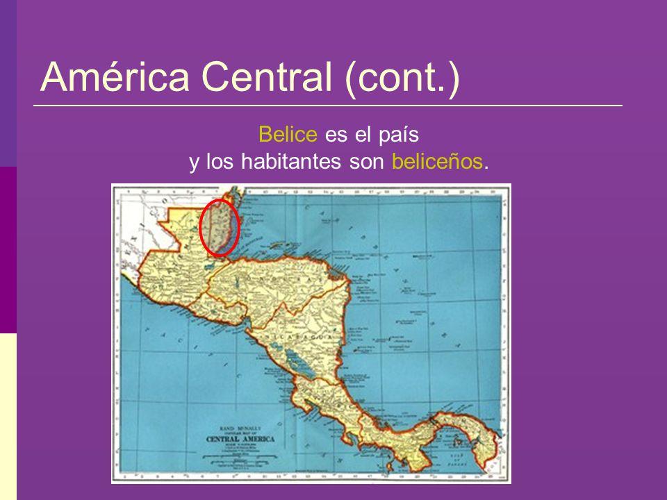 América Central (cont.)