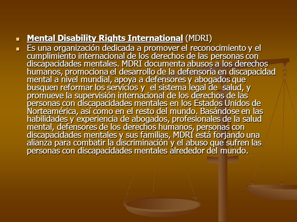 Mental Disability Rights International (MDRI)