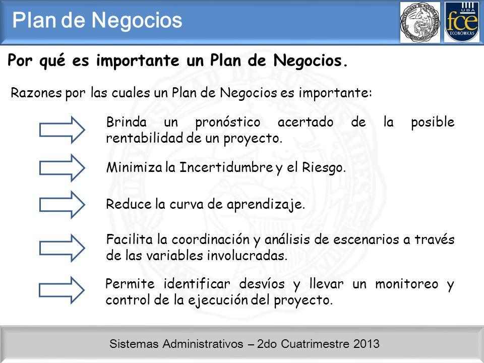 Plan de Negocios Por qué es importante un Plan de Negocios.