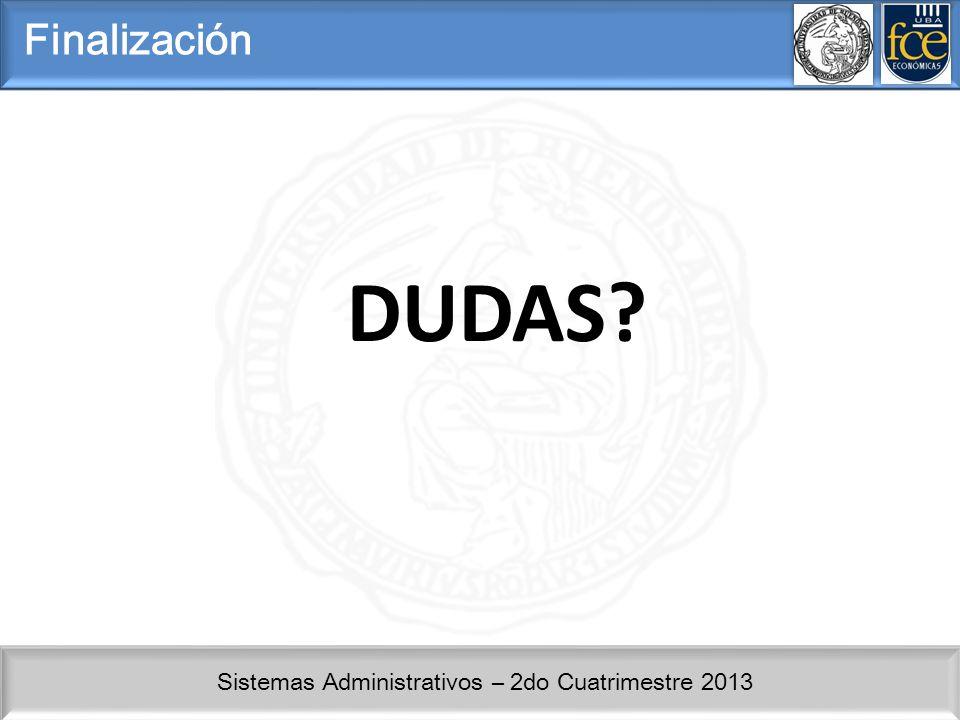 Finalización DUDAS