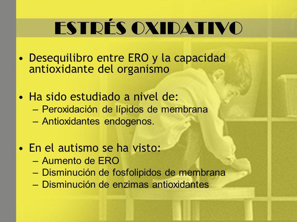 ESTRÉS OXIDATIVO Desequilibro entre ERO y la capacidad antioxidante del organismo. Ha sido estudiado a nivel de:
