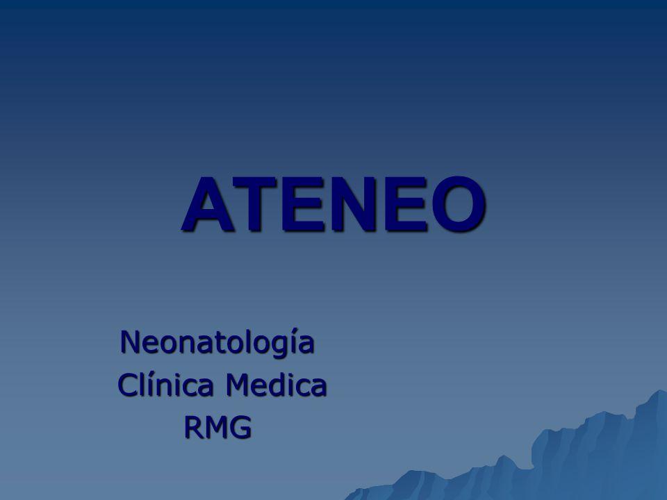 Neonatología Clínica Medica RMG