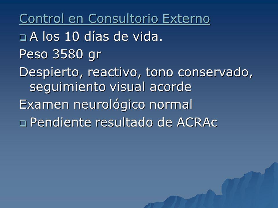 Control en Consultorio Externo