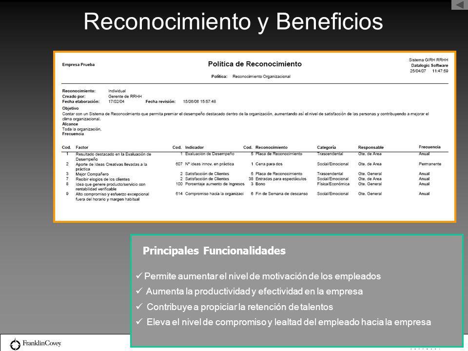 Reconocimiento y Beneficios