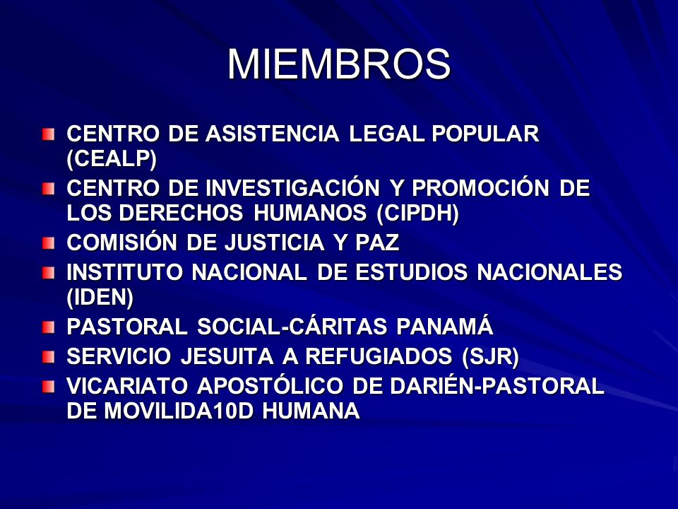 MIEMBROS CENTRO DE ASISTENCIA LEGAL POPULAR (CEALP)