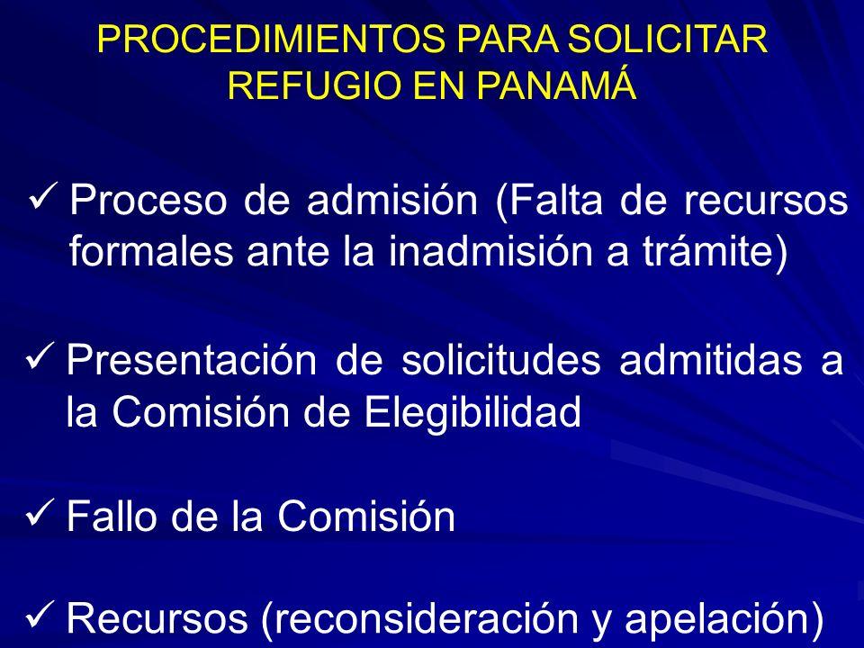 PROCEDIMIENTOS PARA SOLICITAR REFUGIO EN PANAMÁ