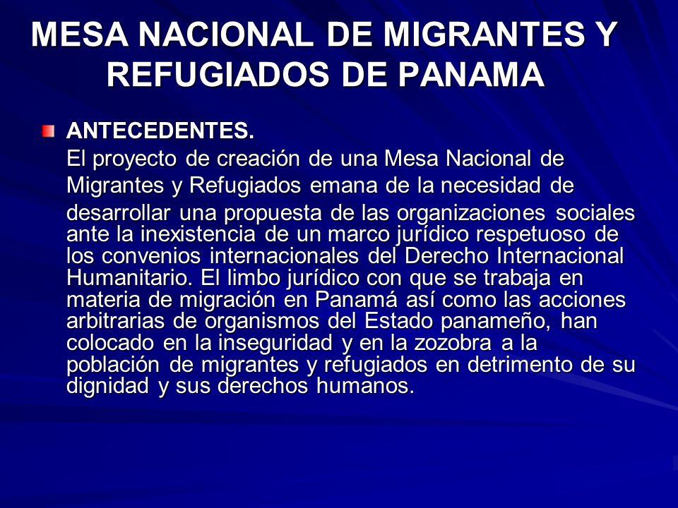 MESA NACIONAL DE MIGRANTES Y REFUGIADOS DE PANAMA