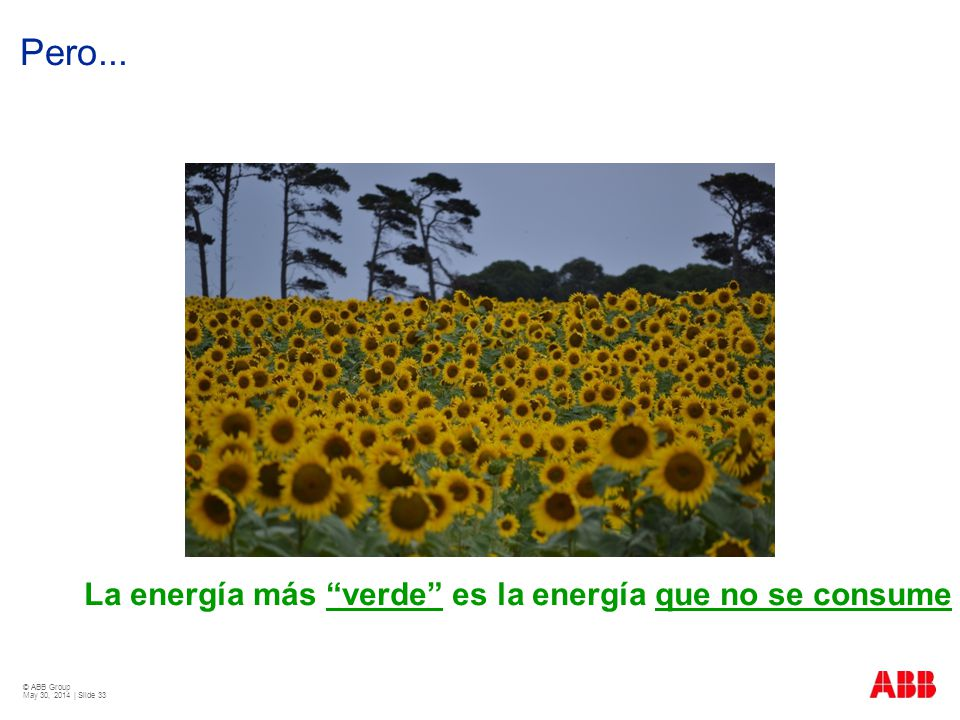 Pero... La energía más verde es la energía que no se consume