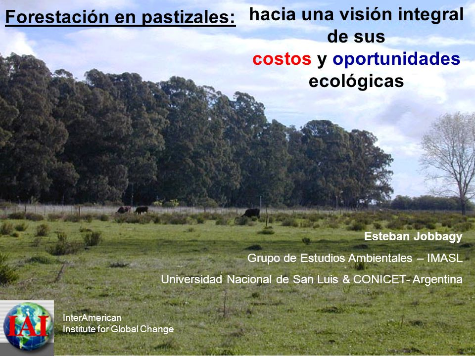 hacia una visión integral costos y oportunidades