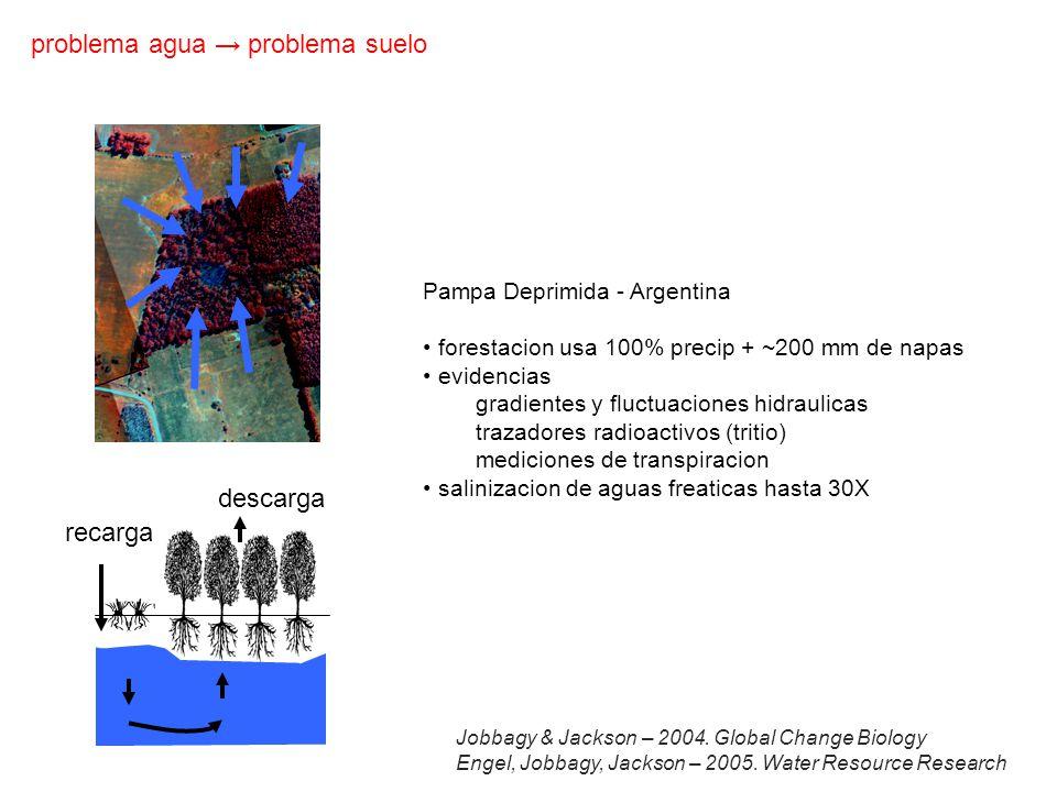 problema agua → problema suelo