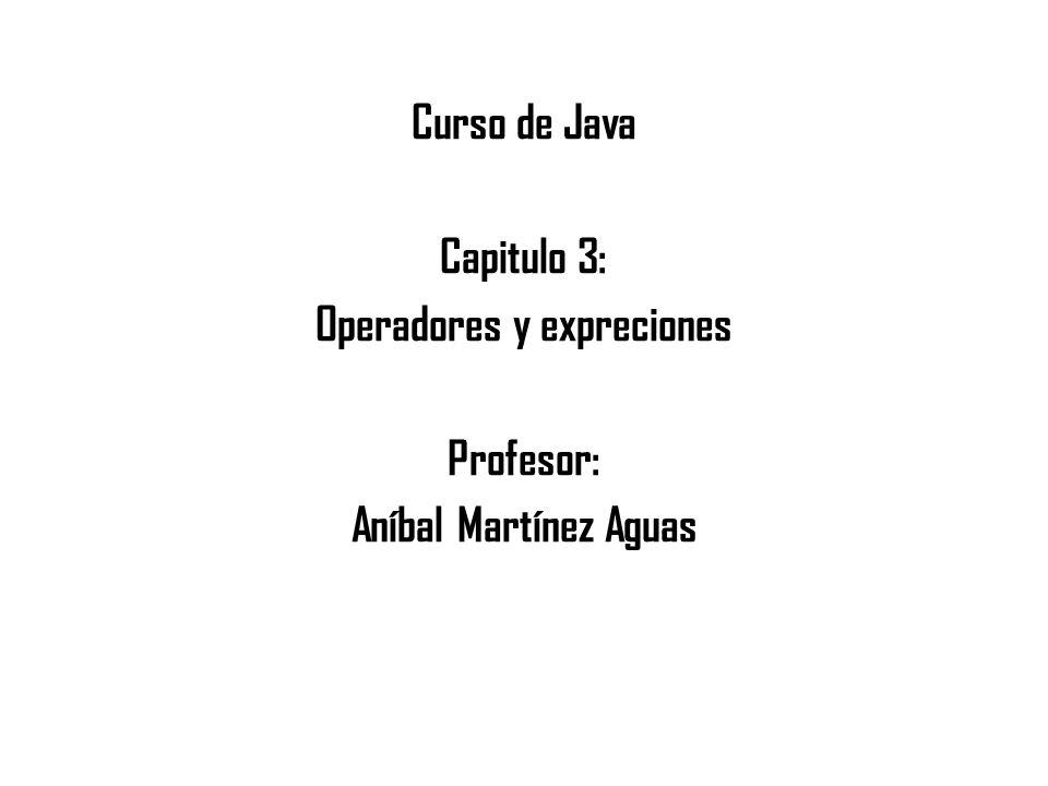 Operadores y expreciones