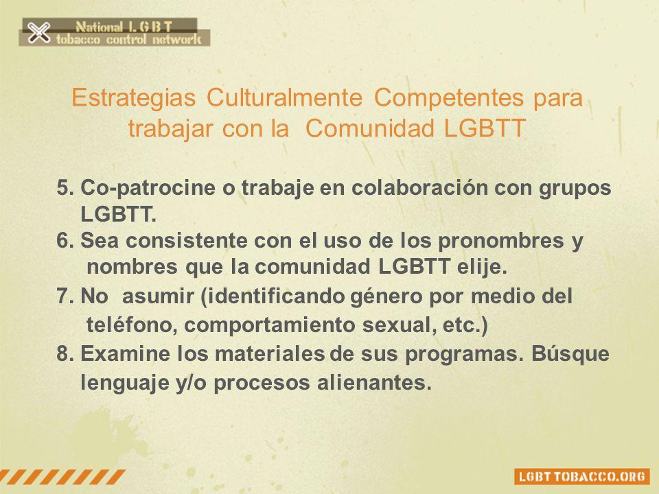Estrategias Culturalmente Competentes para trabajar con la Comunidad LGBTT