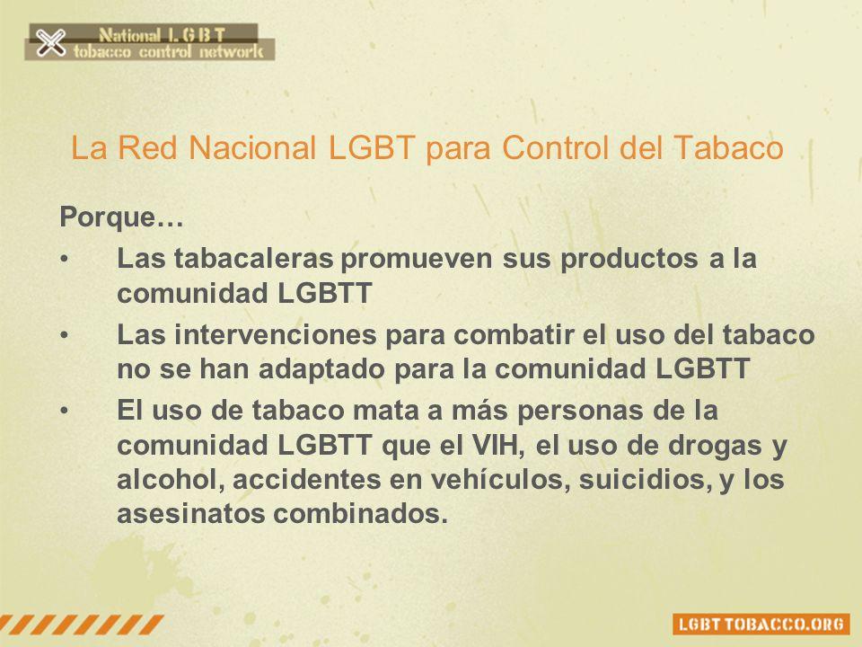 La Red Nacional LGBT para Control del Tabaco