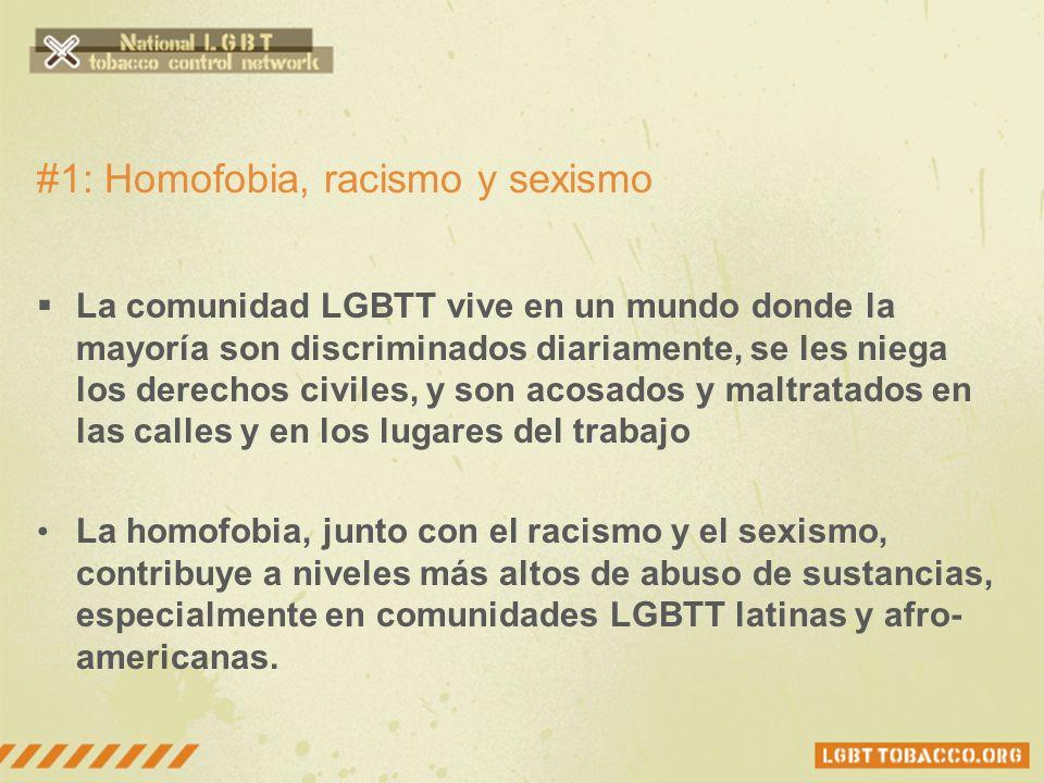 ¿Porqué la comunidad LGBTT fuma más