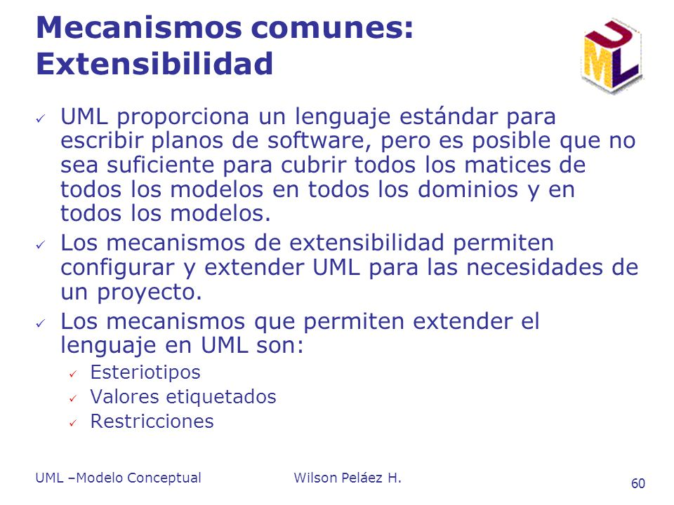 Mecanismos comunes: Extensibilidad