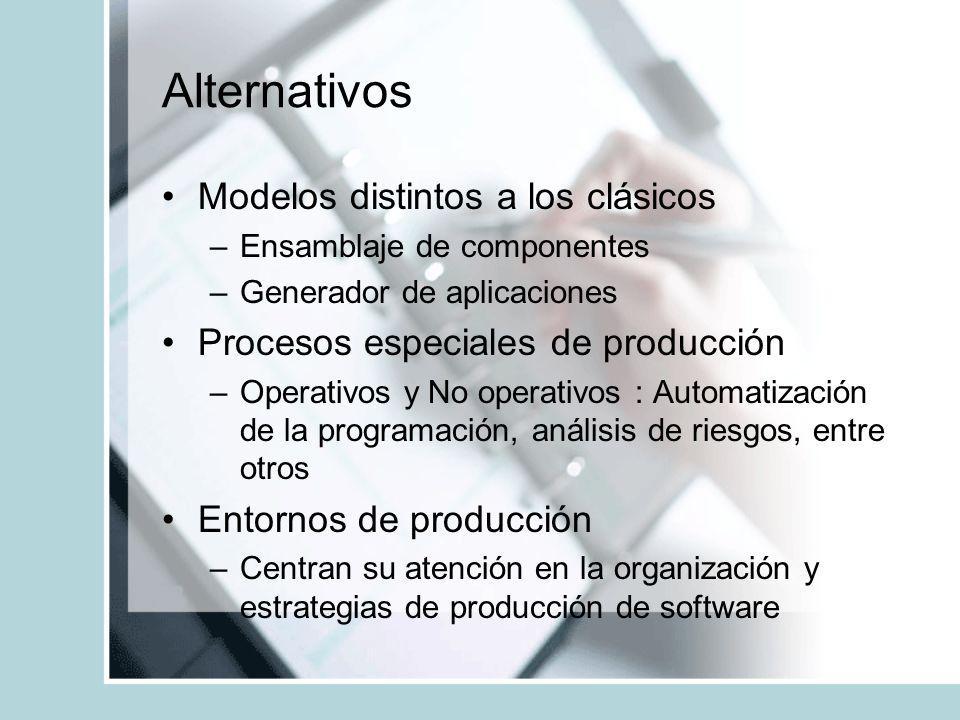 Alternativos Modelos distintos a los clásicos