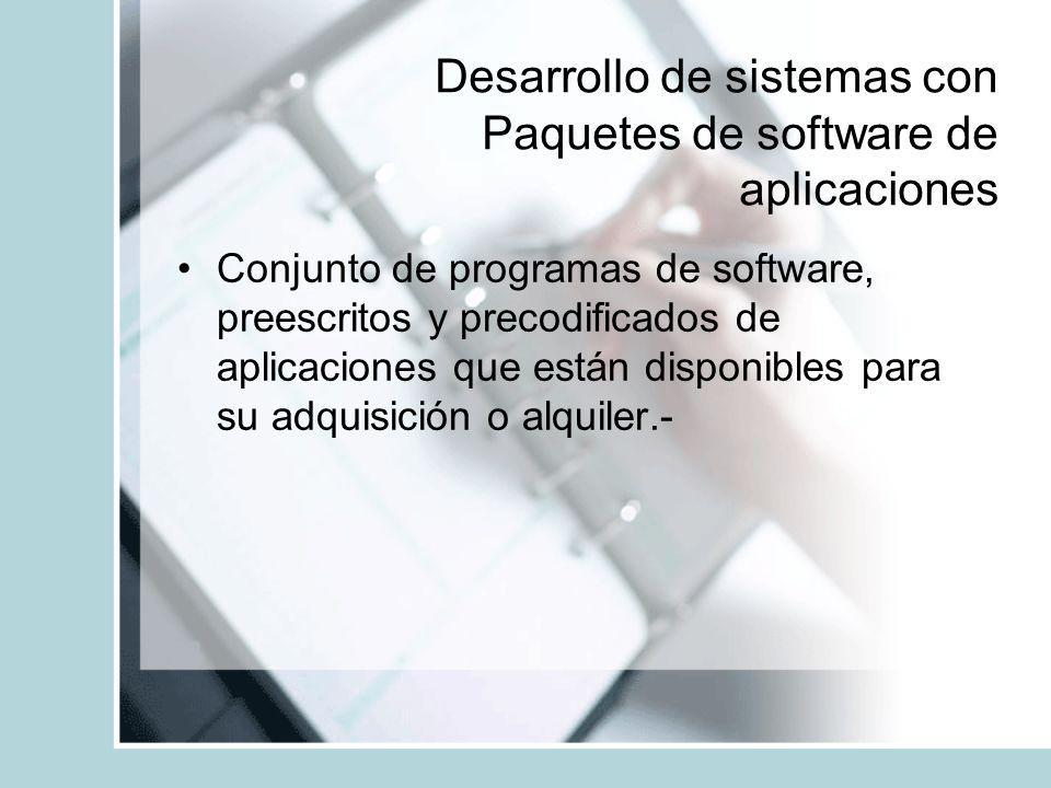 Desarrollo de sistemas con Paquetes de software de aplicaciones