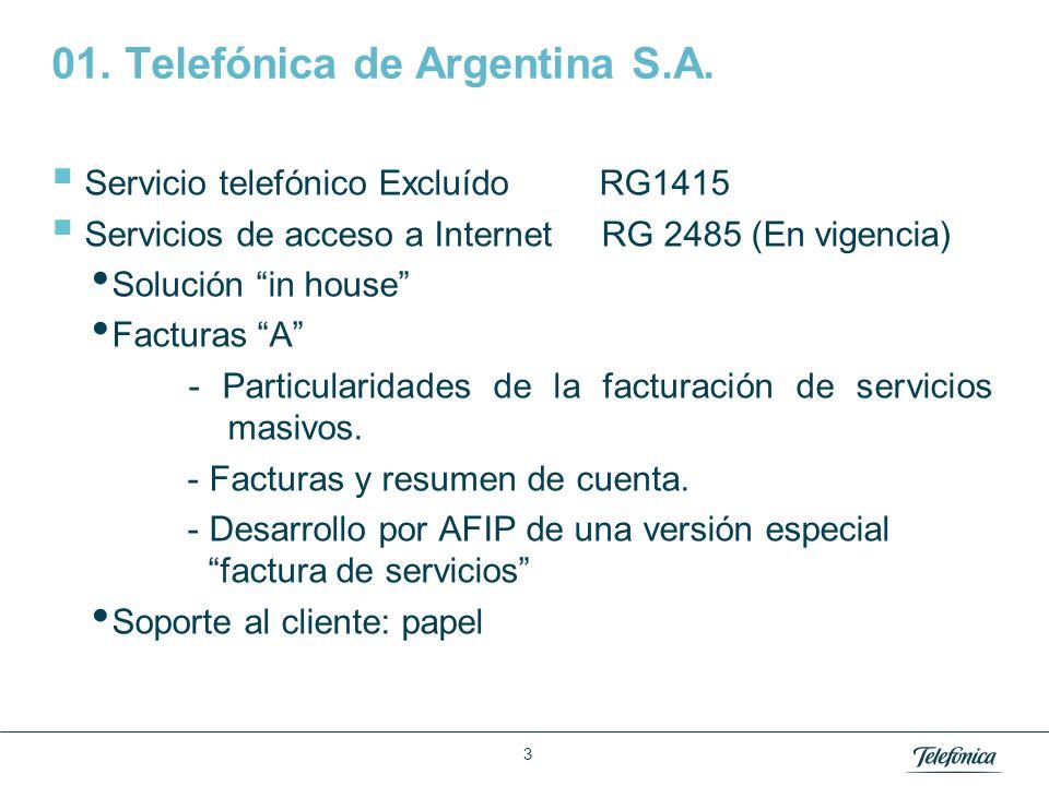 01. Telefónica de Argentina S.A.