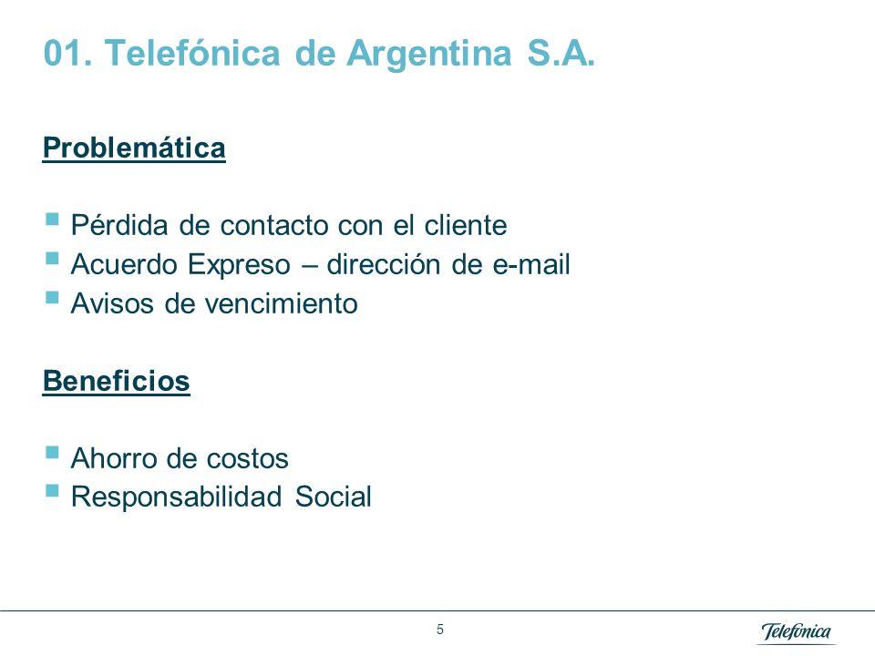 01. Telefónica de Argentina S.A. – Cont.