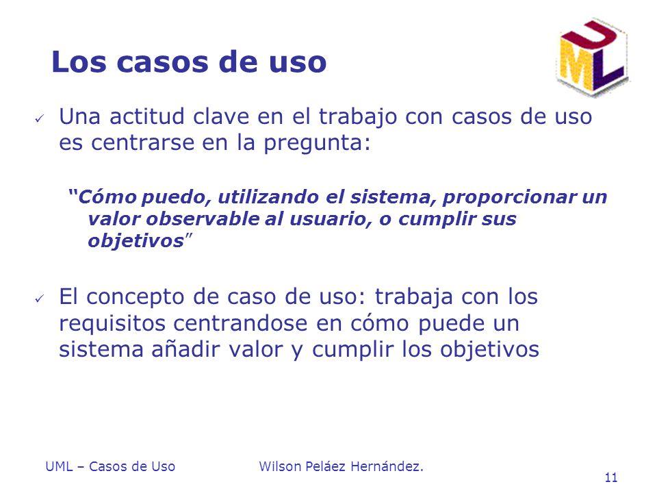 Los casos de uso Una actitud clave en el trabajo con casos de uso es centrarse en la pregunta: