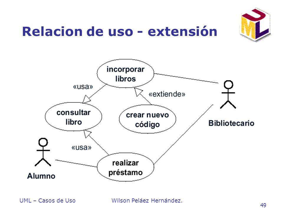 Relacion de uso - extensión