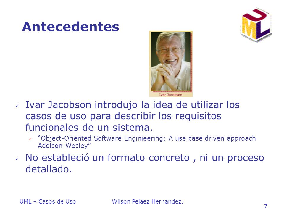 Introduccion a UML Antecedentes.