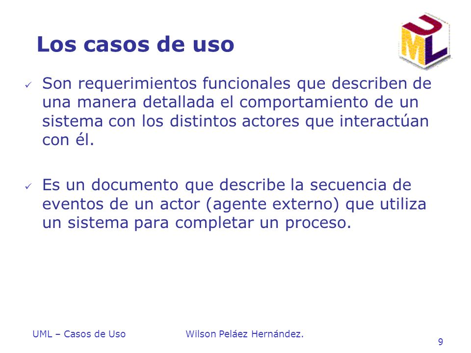 Introduccion a UML Los casos de uso.