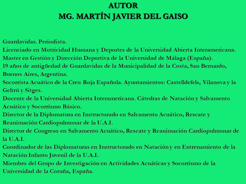 MG. MARTÍN JAVIER DEL GAISO