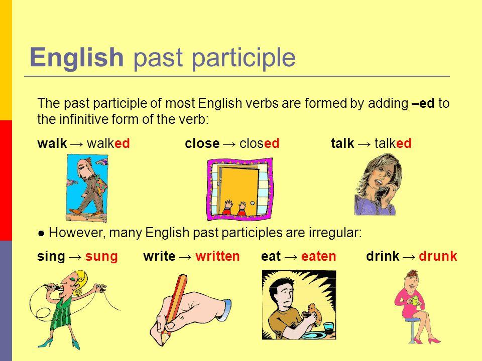 English past participle