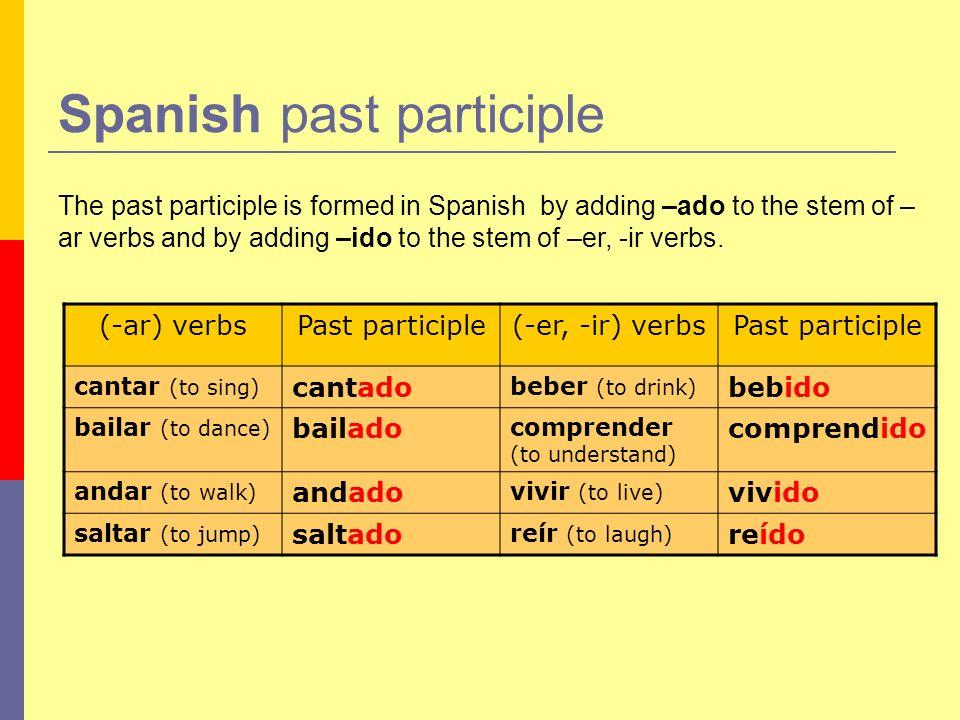 Spanish past participle