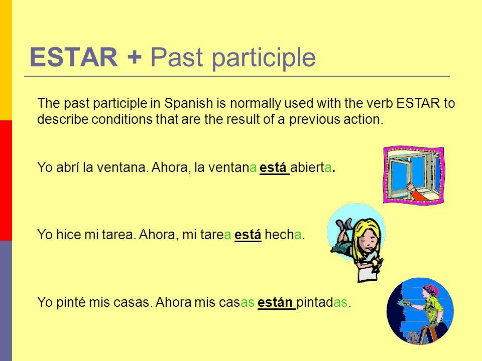 ESTAR + Past participle