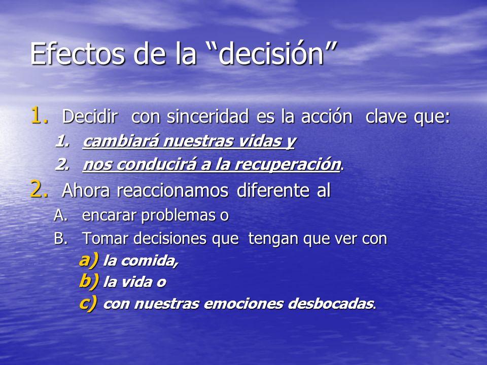 Efectos de la decisión