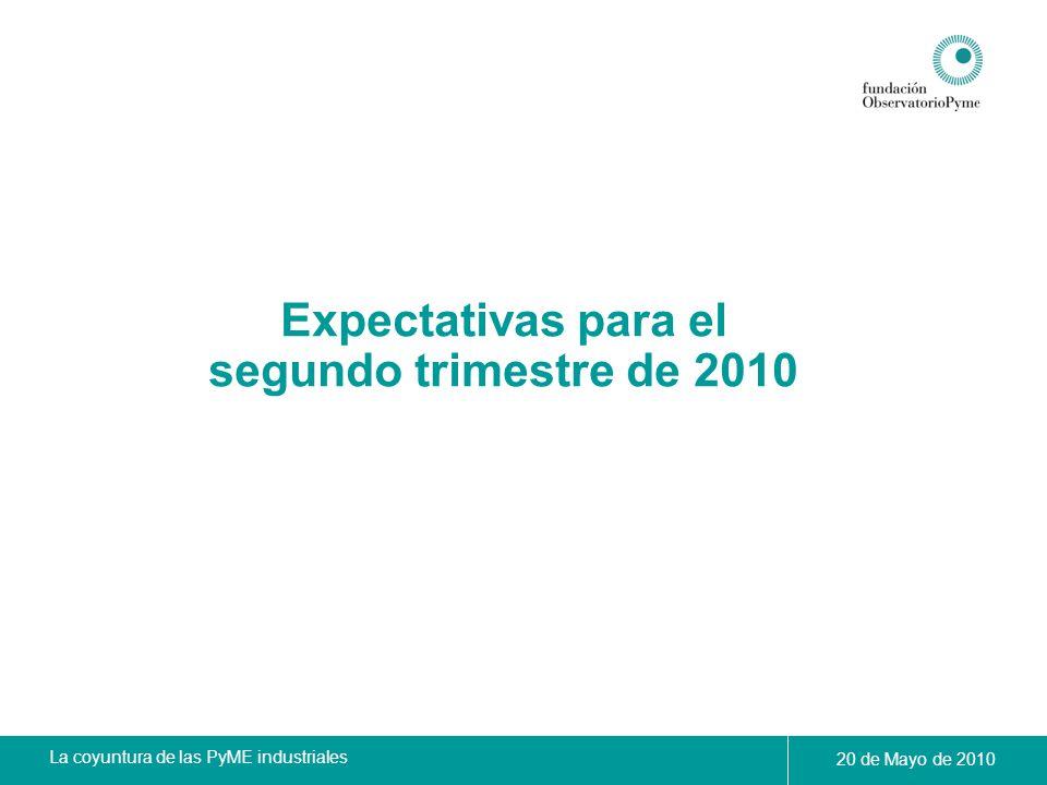 Expectativas para el segundo trimestre de 2010