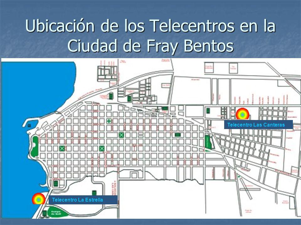 Ubicación de los Telecentros en la Ciudad de Fray Bentos