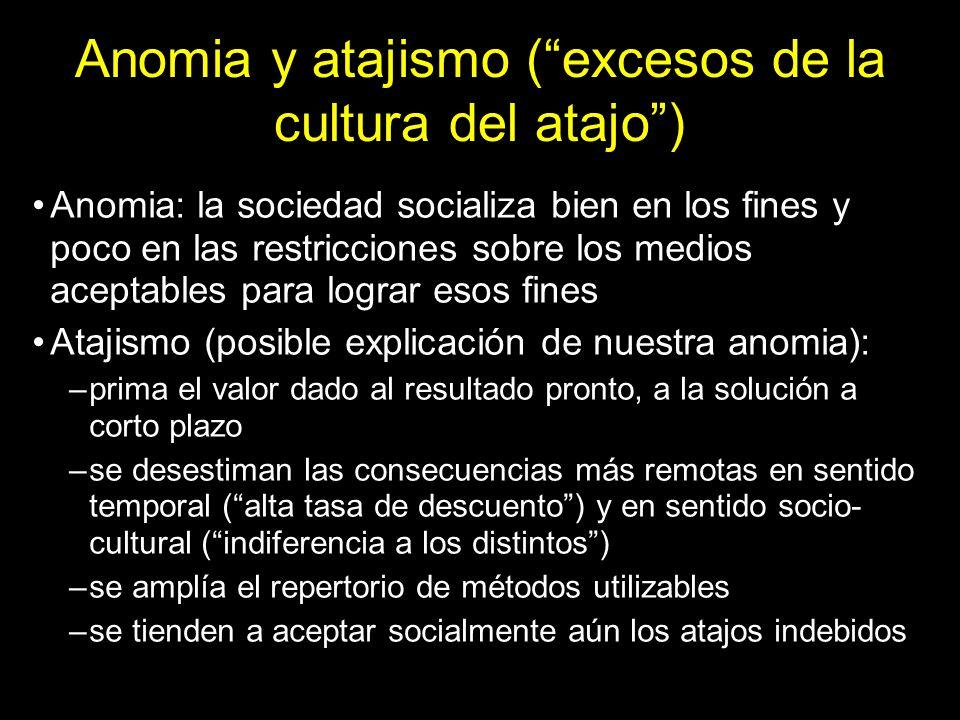 Anomia y atajismo ( excesos de la cultura del atajo )