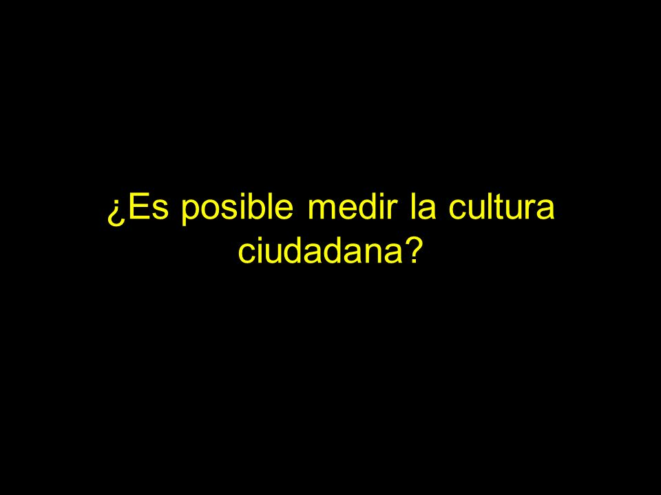 ¿Es posible medir la cultura ciudadana
