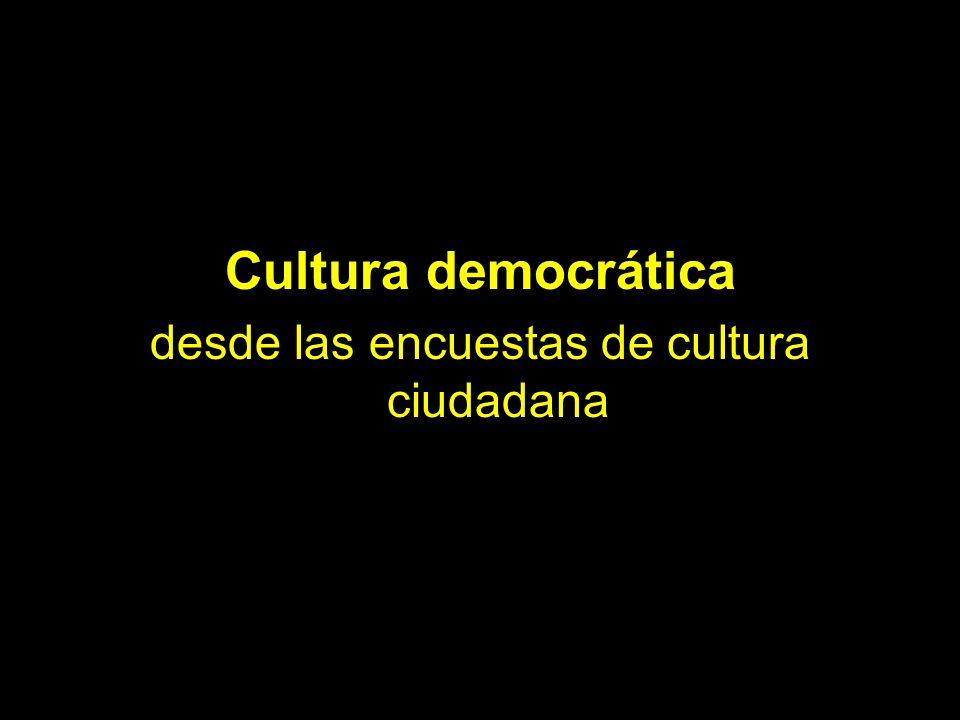 desde las encuestas de cultura ciudadana