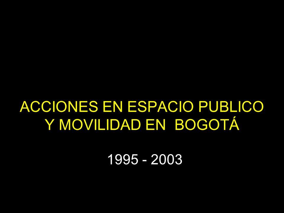 ACCIONES EN ESPACIO PUBLICO Y MOVILIDAD EN BOGOTÁ